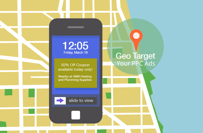 Geographic targeting for PPC ads