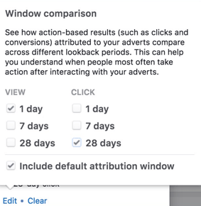 Window Comparison-Attribution Window