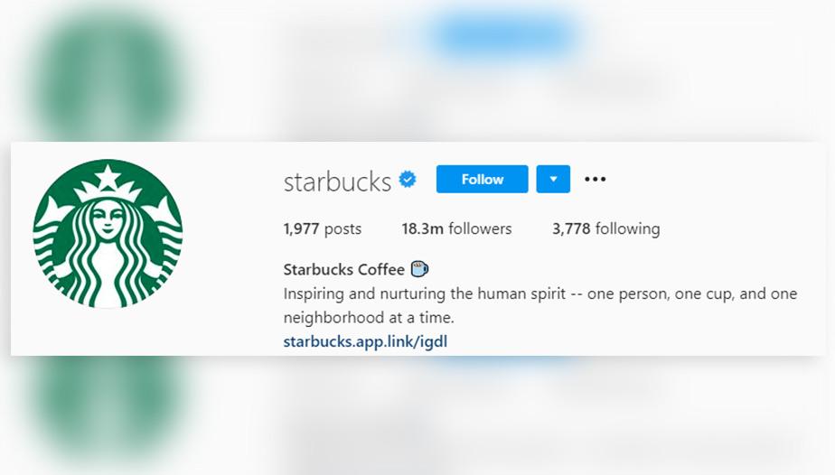 Starbucks Instagram bio
