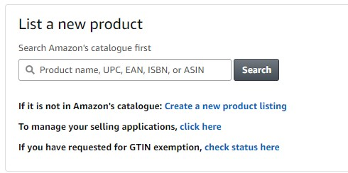 List a Product in Amazon Seller Central Account