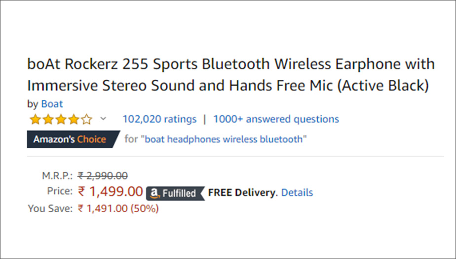 Amazon Product Price Example - Manufactrer's Suggested Retail Price